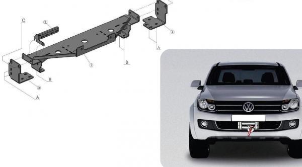 Product Winch Mounting Kit Vw Amarok 4x4 Tuning