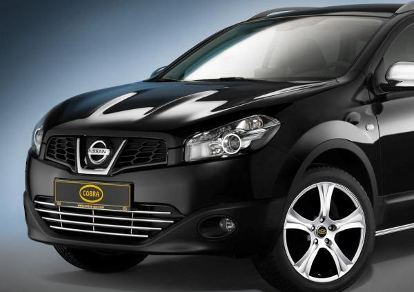product front bumper grill nissan qashqai 2010 4x4 tuning. Black Bedroom Furniture Sets. Home Design Ideas