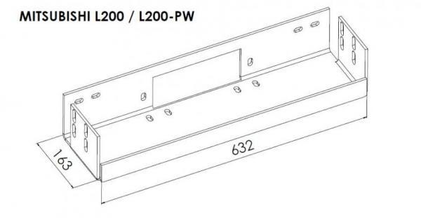 product  winch mounting kit mitsubishi l200