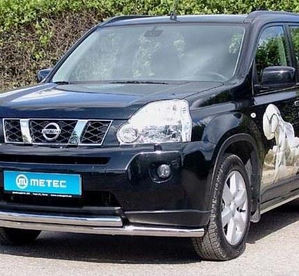 product front protection pipe double nissan x trail t31. Black Bedroom Furniture Sets. Home Design Ideas