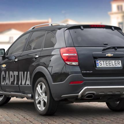 product rear protection chevrolet captiva 2013 4x4 tuning. Black Bedroom Furniture Sets. Home Design Ideas